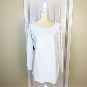 Ivory Armani Exchange Sweater Tunic Size M